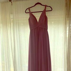 Twist Strap Formal Dress